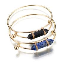 bracelet wrap wire images Gold wire wrap bangle black lapis hexagonal crystal point bracelet jpg
