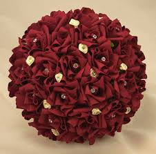 Silk Bridal Bouquets Bridal Bouquets Burgundy U0026 Ivory Rose Diamante Bridal Bouquet