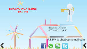 invitation maker app housewarming invitation maker android apps on play