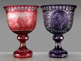 Red Vases And Bowls Crystal Gifts Colored Crystal Wine Goblets Stemware Vases