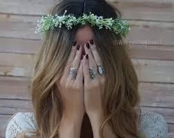 flower hair rings images Bridal flower crown etsy jpg