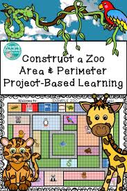 construct a zoo area and perimeter project based learning