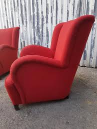 fauteuils rouges fauteuils rouges italie 1950s set de 2 en vente sur pamono
