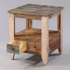 Pine End Tables Hoot Judkins End And Side Pine Rustic End Table Drawer Multi Colored