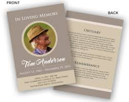 funeral program template funeral card photoshop psd