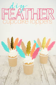 cupcake decorations for thanksgiving diy cupcake toppers and feather party food picks pink peppermint