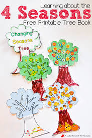 cute trees learning about the 4 seasons cute free printable tree book