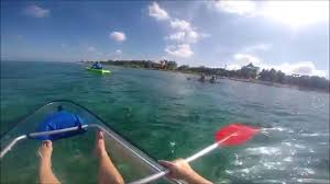 clear kayak clear kayak and beach snorkel in cozumel youtube