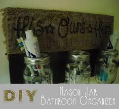 Mason Jar Bathroom Organizer Diy Mason Jar Bathroom Organizer The Craftiest Couple