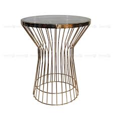 round wood and metal side table teak wood and metal side table vivaterra for designs 9