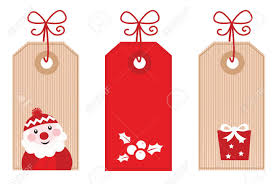 cute stylized retro christmas sale labels vector illustration