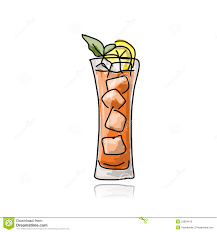 cocktail sketch glass with cocktail sketch for your design stock vector image