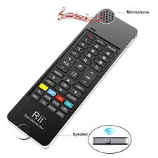 android keyboard with microphone rii i13 mini wireless keyboard fly mouse ir learning remote