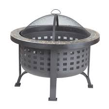 Firepit Top Sense Alpina 30 In Steel Pit With Slate Top 62240