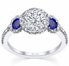 sapphire accent engagement rings three halo engagement ring with sapphire accents
