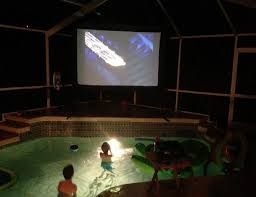 backyard projector home outdoor decoration