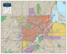 toledo ohio map toledo oh metropolitan wall maps from metro graphic arts your