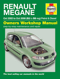 renault megane petrol u0026 diesel oct 02 08 haynes repair manual