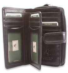 visconti womens large soft leather purse wallet ladies genuine