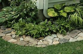 Landscaping Edging Ideas Diy Landscape Edging Ideas With Stone Green Small Plants Dugas
