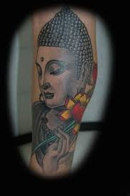 buddha hand tattoo great looking buddha and lovely flower hold by hand tattoo design