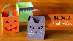 Halloween Candy Bags Craft by 3 Easy Paper Halloween Treat Holders Luminaries Bootorials