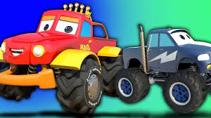 monster truck video for kids youtube vs car battle video for s teaching numbers to number
