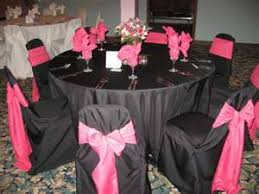 fuschia pink table cloth which table setting