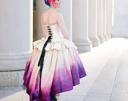 Purple Wedding Dresses Ombre Wedding Dress Etsy