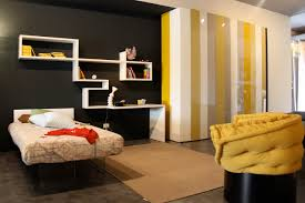Black And White Bedroom With Color Accents Yellow Room Interior Inspiration 55 Rooms For Your Viewing Pleasure