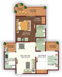 2bhk Plan by Ajnara Ambrosia Floor Plans