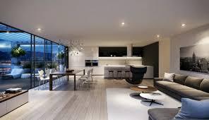 photo salon cuisine ouverte salle a manger grise et blanche 4 indogate decoration interieur
