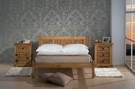 Solid Pine Bed Frame Birlea Bed Wood Waxed Pine Small Co Uk