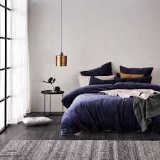 home republic cotton velvet quilt cover navy bedroom quilt