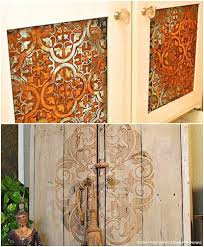 diy kitchen cupboard door ideas 20 diy cabinet door makeovers with furniture stencils diy