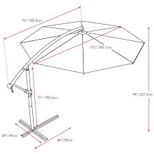 Grey Patio Umbrella by Amazon Com Corliving Ppu 450 U Offset Patio Umbrella Wine Red