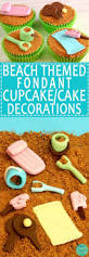 Cake Decorations Beach Theme - beach themed fondant cupcake cake decorations happy foods tube