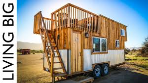 Tiny House With Amazing Rooftop Balcony Youtube