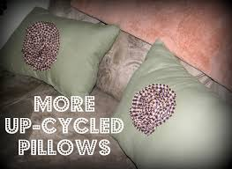 Upcycled Pillows - 19 projects to celebrate earth day