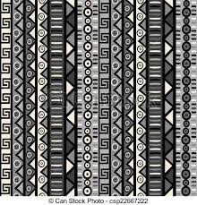 seamless pattern with tribal ornaments for wrapping paper clip