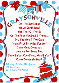 dr seuss birthday invitations dr seuss 1st birthday personalized invitations alanarasbach