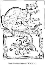 coloring book santa claus rabbit stock vector 321975182
