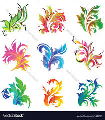 floral decor ornament royalty free vector image
