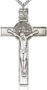 st benedict crucifix men s large st benedict crucifix pendant