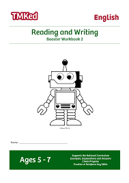 reading and writing booster workbook 2 5 7 years tmk education