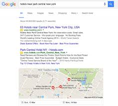 Google Maps Central Park New York by How Google U0027s Recent Serp Changes Affect Hotels Travel Tripper