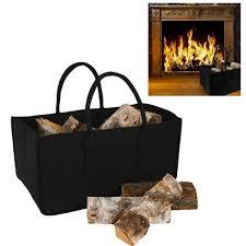buche de cheminee sac à buches cheminée pour bois de chauffage noir achat