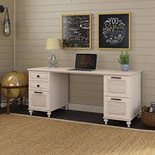 Office Desk Pedestal Drawers Amazon Com Kathy Ireland Office Volcano Dusk Double Pedestal Desk