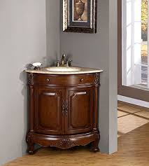 silkroad exclusive travertine top single white corner sink
