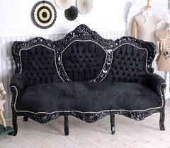 sofa schwarz sofa antik boudoir sofa liege rokoko antik recamiere sitzbank
